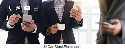 kontakt oss, (customer, stöd, hotline, folk, koppla samman, ), rop, avnämare understöd