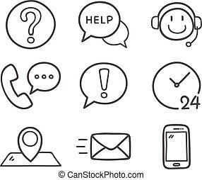 kontakt oss, icons.