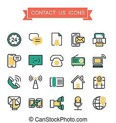 kontakt oss, ikonen