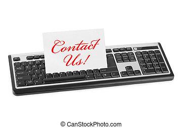 kontakta, datorkort, oss, tangentbord