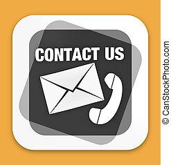 kontakta, design, oss, ikon