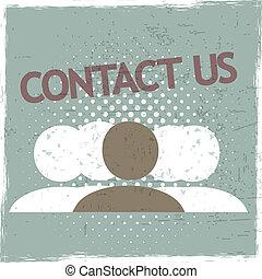 kontakta, grupp, oss