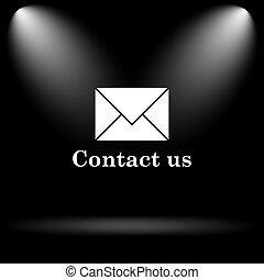 kontakta, ikon, oss