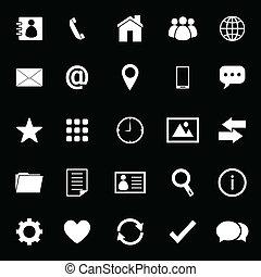 kontakta, svart fond, ikonen
