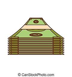 kontanter, pengar, släkt, ikonen, avbild
