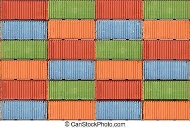 kontenery, okrętowy