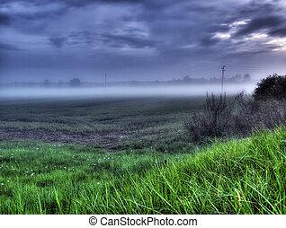 kontinentális, köd