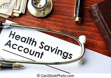 konto, hsa, gesundheit, spareinlagen, papiere