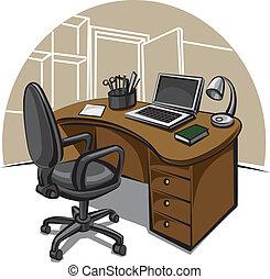 kontor arbejd, sted