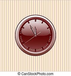 kontor, clock., vektor