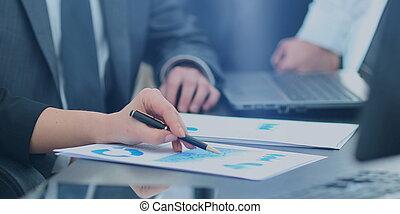 kontor, grupp, arbete, affärsfolk