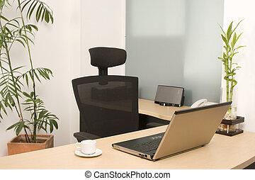 kontor, moderne, arbejdspladsen