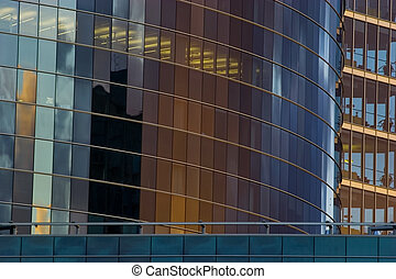 kontor, skyskrapa, anläggande front