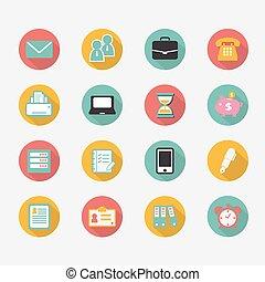 kontorsarbete, workplace, affär, finansiell, nät ikon