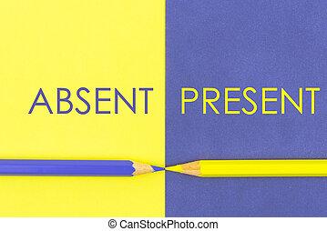 kontra, frånvarande, begrepp, gåva, Kontrast