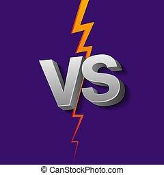 kontra, irodalomtudomány, háttér, vs, ábra, vektor, ultraviola, lightning.