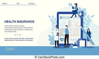 kontrakt, forsikring, mandlig, patient, tegn, sundhed, doktor