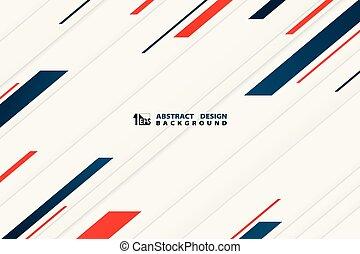 kontrast, tech, ozdoba, szablon, ilustracja, kolor, błękitny, wektor, design., czerwony, eps10, abstrakcyjny, handlowy