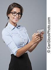 kontrola, smartphone, plan