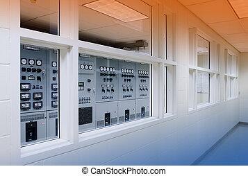 kontroll, elektrisk, rum