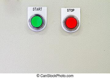 kontroll, panel.