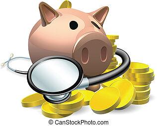 kontrollieren, begriff, finanziell, gesundheit
