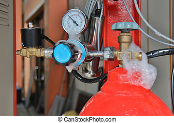 kontrollieren, der, leakage, von, gas