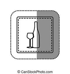 contour glas flasche wein traube grobdarstellung. Black Bedroom Furniture Sets. Home Design Ideas