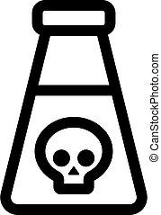 kontur, odizolowany, ilustracja, symbol, skażenie, vector., etiuda, ikona
