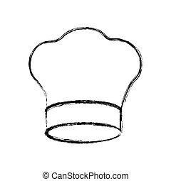 kontura, vrchní kuchař povolání, ikona