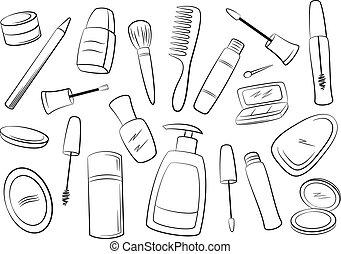 konturer, kosmetik, tilbehør