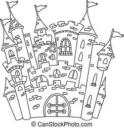 konturowany, zamek