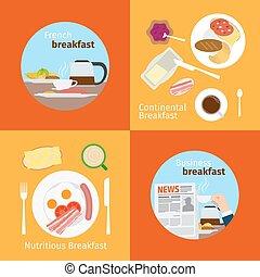 kontynentalne śniadanie, francuski, pojęcia