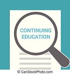 kontynuowanie, szkło, optyczny, słówko, wykształcenie, powiększający, concept:
