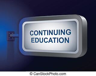 kontynuowanie, tablica ogłoszeń, wykształcenie, słówko