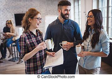 konversation, kolleger, workplace, coworking, ha