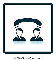 konversation, telefon, ikon