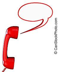 konversation, telefon