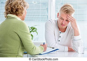 konversation, terapeut