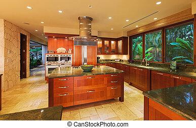 konyha, alatt, luxury saját