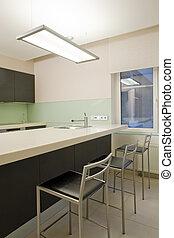 konyha, belső, modern