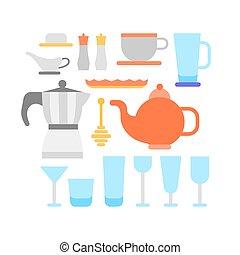 konyha, eszközök, gyűjtés