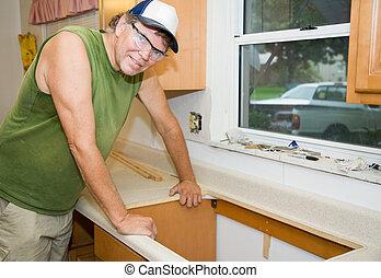 konyha, remodeling, szállító