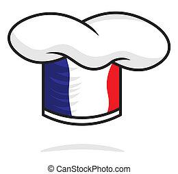konyhafőnök kalap, franciaország