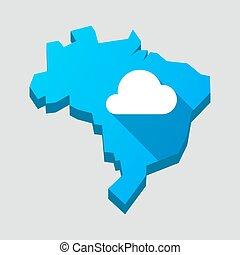 konzervativní, brazílie, mračno, mapa
