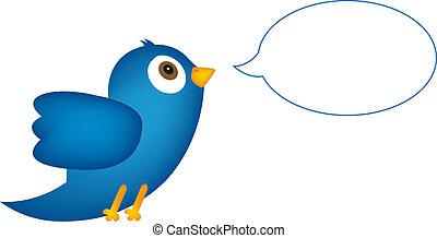konzervativní, bublina, řeč, ptáček