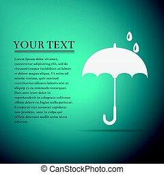 konzervativní, byt, deštník, ilustrace, grafické pozadí., vektor, ikona
