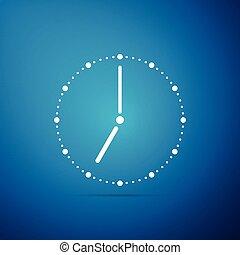 konzervativní, byt, hodiny, osamocený, ilustrace, grafické pozadí., vektor, ikona, design.