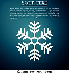 konzervativní, byt, osamocený, ilustrace, grafické pozadí., vektor, ikona, sněhová vločka, design.
