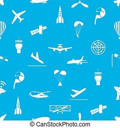 konzervativní,  eps10, Ikona, model,  seamless, letectví, Neposkvrněný